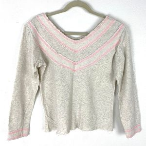 Anthropologie Pepin french terry long sleeve